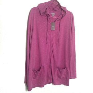 NWT J Jill Zip up lightweight hoodie XL